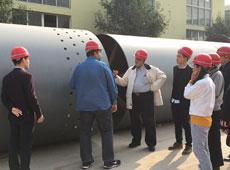 印度客户考察回转窑设备