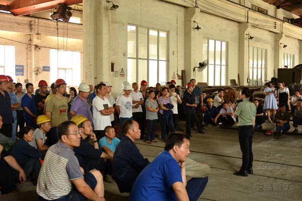 消防安全讲师对中嘉重工员工进行防火知识培训讲座